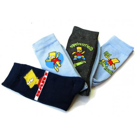 lot 4 paires chaussettes bart simpsons