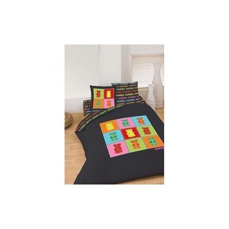 housse de couette haribo nounours 240 x 220 cm avec 2 taies la boutique des. Black Bedroom Furniture Sets. Home Design Ideas