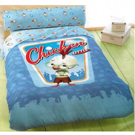 housse de couette chicken little avec taie. Black Bedroom Furniture Sets. Home Design Ideas