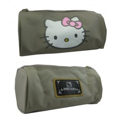 trousse hello kitty fashion gris taupe