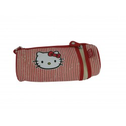 fourre tout hello kitty marin rond rouge