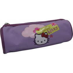 fourre tout hello kitty house rond prune