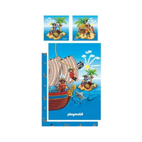playmobil parure de lit pirates la boutique des vrais fans. Black Bedroom Furniture Sets. Home Design Ideas