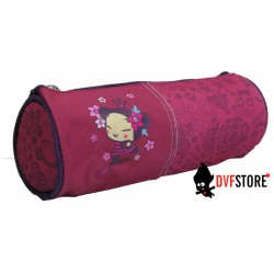 fourre tout pucca crown rond rose