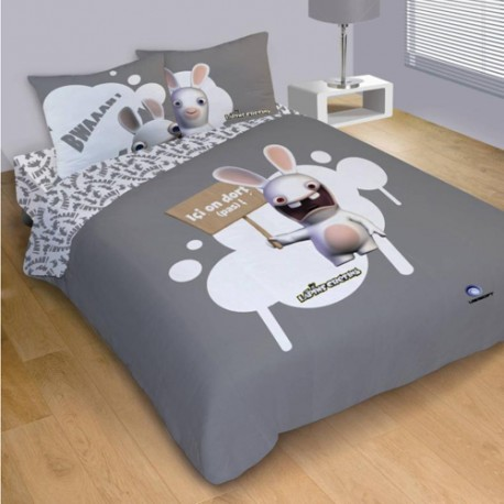 housse de couette lapins cr tins dodo 240x220 cm. Black Bedroom Furniture Sets. Home Design Ideas