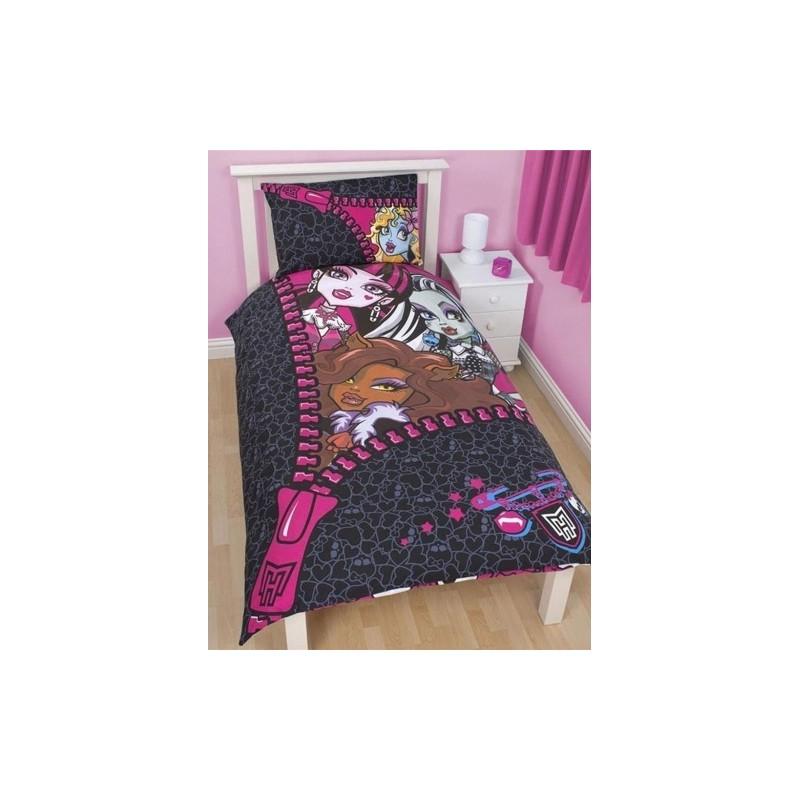 parure de lit monster high skullette. Black Bedroom Furniture Sets. Home Design Ideas