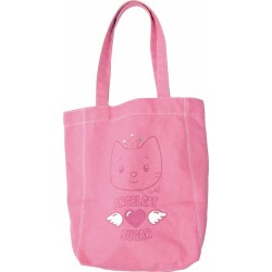 sac cabas rose cat sugar