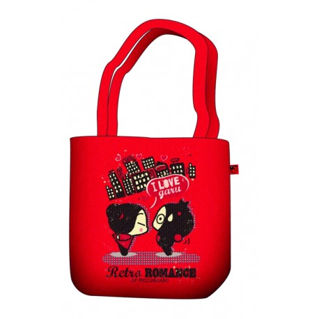 sac shopping pucca rétro romance rouge
