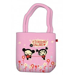 sac shopping pucca rétro rose