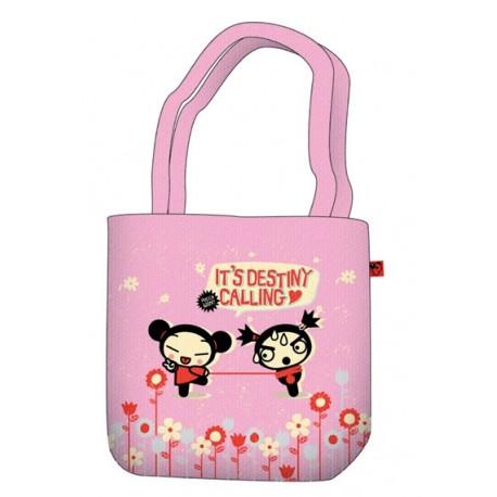 sac shopping pucca rétro rose