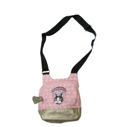 sacoche rebecca bonbon crown bandoulière mixte rose