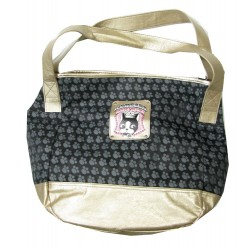 sac shopping rebecca bonbon crown noir