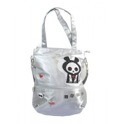 sac shopping rond skelanimals argenté matt la souris