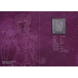 saint seiya - myth cloth plaque collector lira orpheus