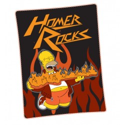 couverture polaire homer simpsons rock