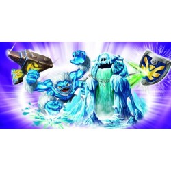 lot de figurines skylanders: empire of ice, sky-iron shield, sla