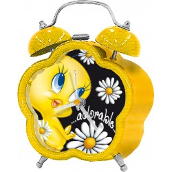 réveil looney tunes jaune titi