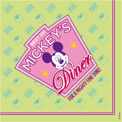 20 serviettes papier best of mickey