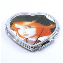 miroir de poche coeur doll kawai