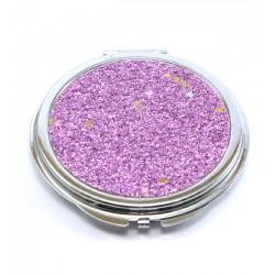 miroir de poche rond kawai rose