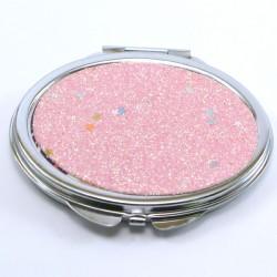 miroir de poche ovale kawai rose