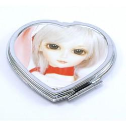 miroir de poche doll coeur kawai