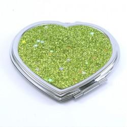 miroir de poche coeur kawai jaune