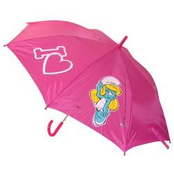 parapluie adulte les schtroumpfs rose : i love schtroumpfette