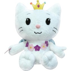 angel cat sugar - peluche de 35 cm d'angel portant un collier