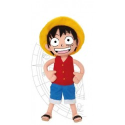 peluche one piece bean bag : luffy 20 cm