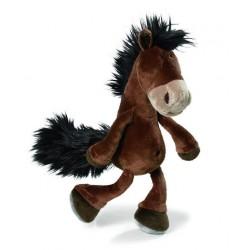 peluche nici cheval marron 15 cm