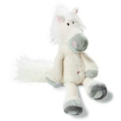 peluche nici cheval blanc 15 cm