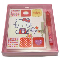 journal intime + stylo magique hello kitty cookie