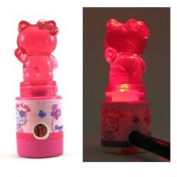 taille crayon hello kitty lumineux rose
