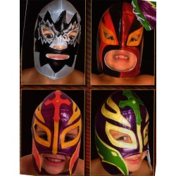 lot de 4 masques de catch enfants