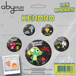keroro - pack de badges keroro and friends série 1