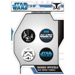 badges star wars - pack de 4 badges empire symbols