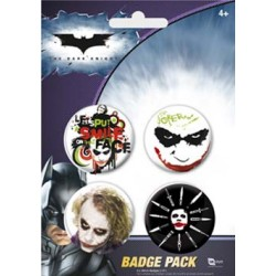 badges batman - pack de 4 badges the dark knight design 1