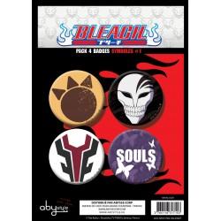badges bleach - pack de 4 badges symboles série 1