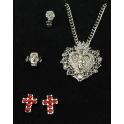 coffret 4 bijoux gothique