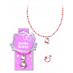 bracelet et bague hello kitty figurine cherry