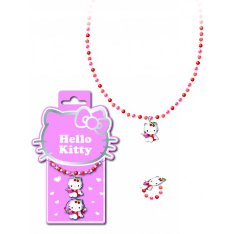 bracelet et bague hello kitty figurine cherry