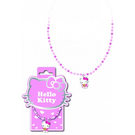 collier hello kitty perles cookies