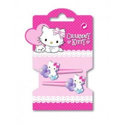 set de 4 mini pinces charmy kitty