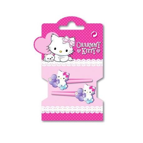 set de 4 mini pinces charmy kitty
