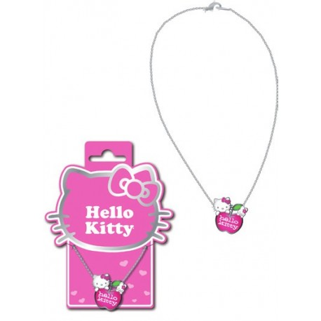 collier hello kitty métal émaillé 80's