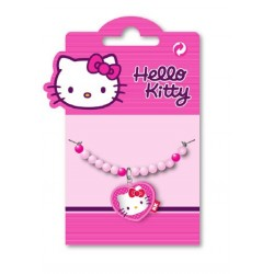 bracelet hello kitty coeur perles