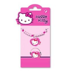 bracelet et bague hello kitty coeur perles