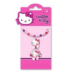 bracelet et bague hello kitty lolly perles