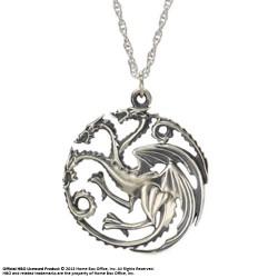 pendentif et collier argent targaryen le trône de fer